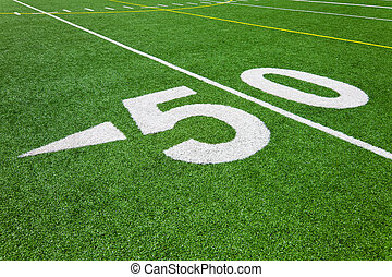 fifty yard line - football field - Football field