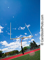Football goal post - Football field