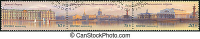 RUSSIA - CIRCA 2013: A stamp printed in Russia shows The historical center of St. Petersburg, series World cultural heritage of Russia, circa 2013