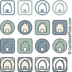 Home vector icon set