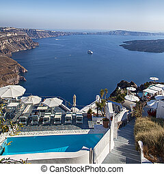Luxury holiday resort with ocean view - Image of luxury...