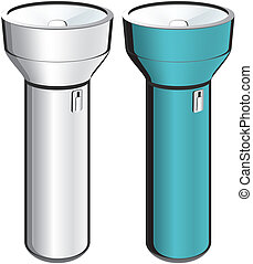 flashlight - Flashlight isolated illustration of two...