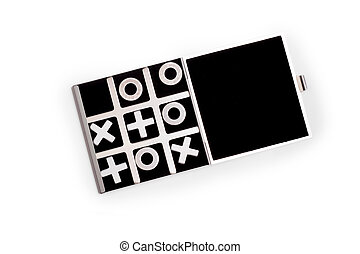 tic-tac-toe black game isolated on white background