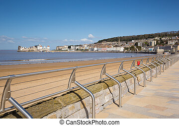 Weston-super-Mare promenade and seafront Somerset England UK