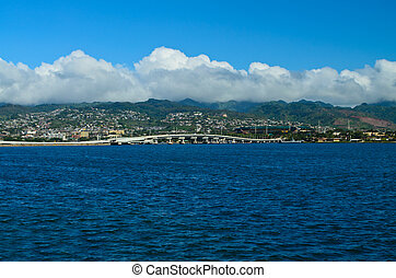 Pearl Harbor - A view of the beautiful Pearl Harbor