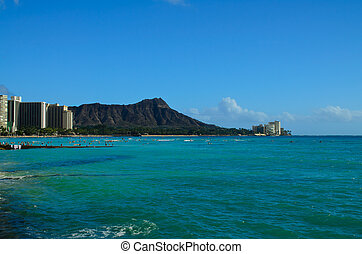 Diamond Head Oahu Hawaii - A view of Diamond Head Oahu...
