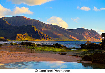 South shore Oahu - A view of the south shore of Oahu