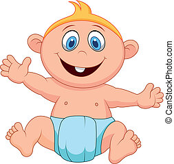 Baby boy cartoon - Vector illustration of Baby boy cartoon