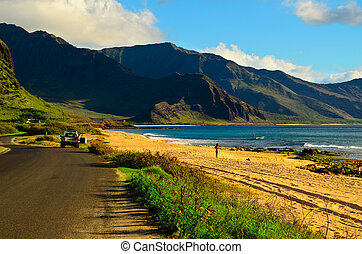 South shore Oahu Hawaii - A view of the south shore of Oahu