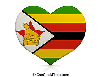 Zimbabwe - Rendered artwork with white background