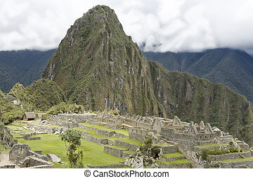 647 Overview of Machu Picchu Inca ruins Peru - Overview of...