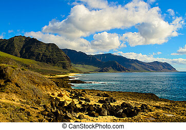South coast of Oahu - View of the south coast of Oahu