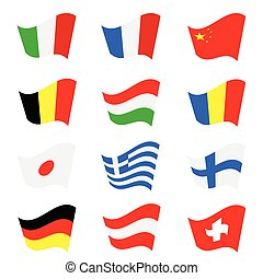 flag color vector illustration