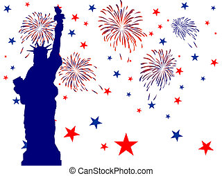 4th july independence day - Vector illustration of the...