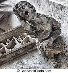 Gargoyle on town hall in Munich