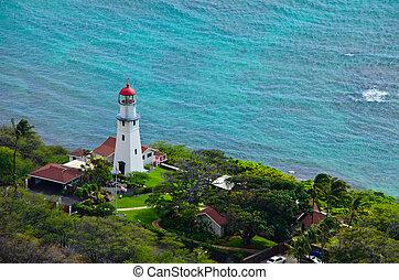Oahu lighthouse - A view of the lighthouse on Oahu