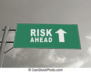 A Notice Board On A National Highway Showing Risk Ahead, Concept