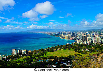 Honolulu Hawaii cityview - View of the city of Honolulu