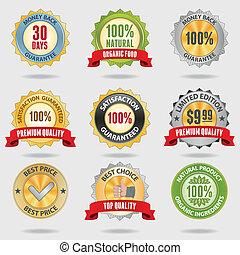 Badges set - Set of different shiny badges