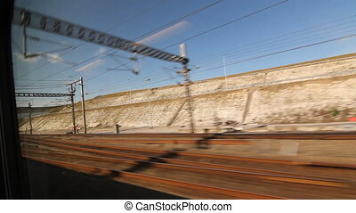 Eurostar in France into Chunnel - Travelling on a Eurostar...