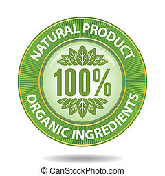 Natural label2 - 100 percent natural product sign
