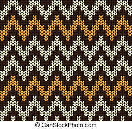 Knitted wool vector background - Knitted wool pattern...