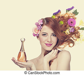 Woman with perfume