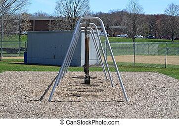 Swing set in a park