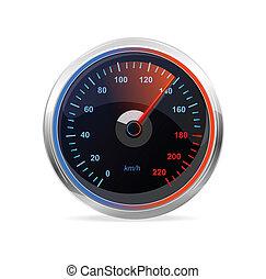 Speedometer, vector.