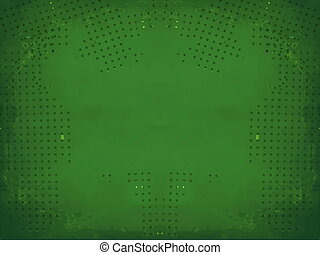 Green grunge border frame on white background