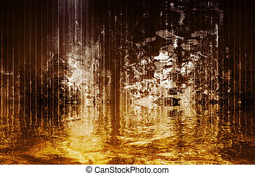 Surreal Soothing Abstract Waterfall View - Surreal and...