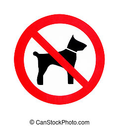 No dogs allowed - No dogs sign isolated on white background...
