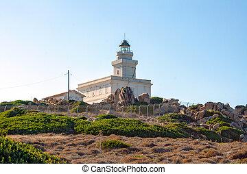 Lighthouse at Capo Testa, Sardinia - Lighthouse at the Capo...
