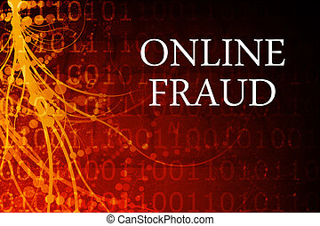 Online Fraud Abstract Background in Red and Black