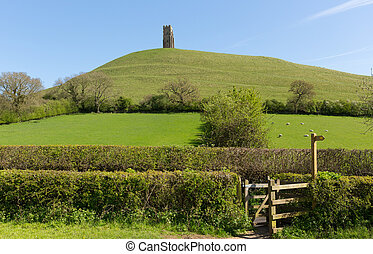 Somerset Glastonbury Tor - Glastonbury Tor, Somerset,...