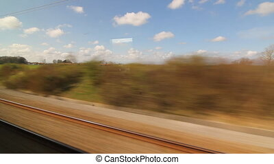 Eurostar in French countryside Two - Travelling on a...