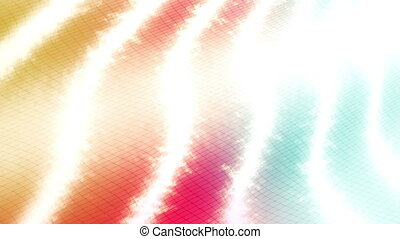 Tricolor Bands Abstract Looping Animated Background