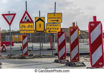 Many traffic signs
