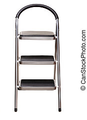 stepladder - three-stage stepladder isolated on white...