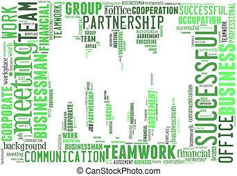 Business teamwork info-text graphics and arrangement concept...