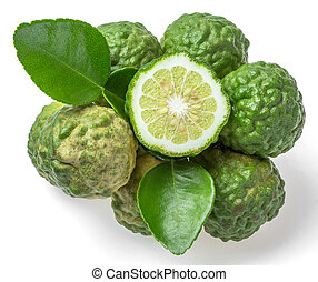 Bergamot fruit isolated on white background