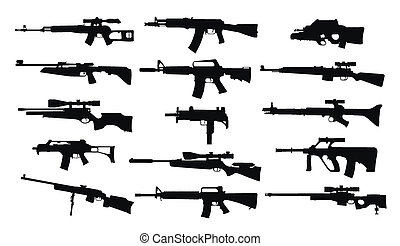 Weapons Set of rifles