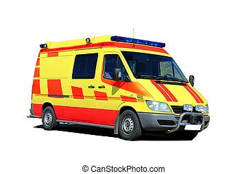 Ambulance Isolated over White