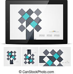 Abstract geometrical business templates. Vector