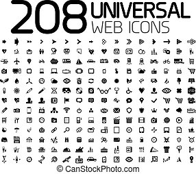 Black icon set : web, internet, business - Black icon set :...