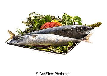 cru,  sardine, atlantique