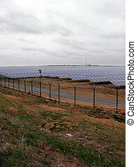 solar power panel energy farm