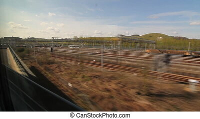 Eurostar in Kent, UK - Travelling on a Eurostar train...