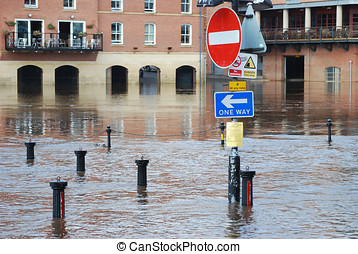 Flooded York