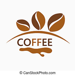 Coffee beans design. Vector illustration